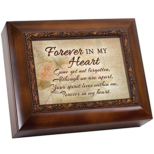 Forever In My Heart Gone Yet Not Forgotten Memorial 9.5 x 8 inch Wood Finish Ashes Memorial Urn Box (Shadow Box Urn)