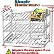 SimpleHouseware Stackable Can Rack Organizer, Chrome