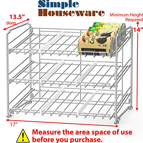 Large Product Image of SimpleHouseware Stackable Can Rack Organizer, Chrome