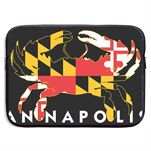 YanHill Laptop Sleeve Bag Case Waterproof Neoprene Maryland Flag Crab Annapolis Protective Carrying Cover Compatible 13 Inch MacBook Pro, MacBook Air, Notebook Computer