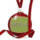 Christmas Decoration Breathe Spa Stones Rocks Ornament