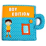 The creative child's quiet book BOY EDITION. Early learning, interactive activity quiet book for toddler development of fine motor skills, hand eye coordination.