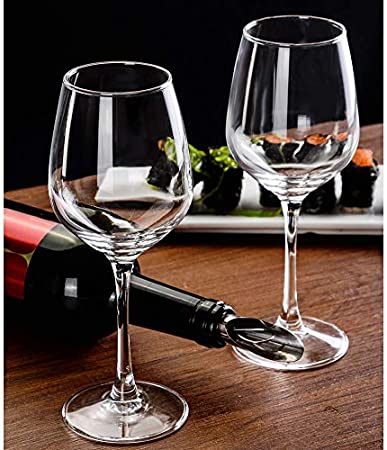 Tanktoyd Juego de 2 Copas de Vino Tinto Modernas de Cristal - Copas de Vino de Tallo Largo y Alto - Copas de Vino Grandes únicas con Tallo para Cabernet, Pinot Noir, Borgoña, Burdeos