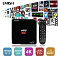 2017 Latest Android 6.0 Tv Box with XBMC, 4Kx2K UHD 2160P Amlogic S912 Octa Core 64 Bits, Built in Wifi, EMMC 16GB/DDRIII 2GB, Streaming Media Player, Can Watch Anything