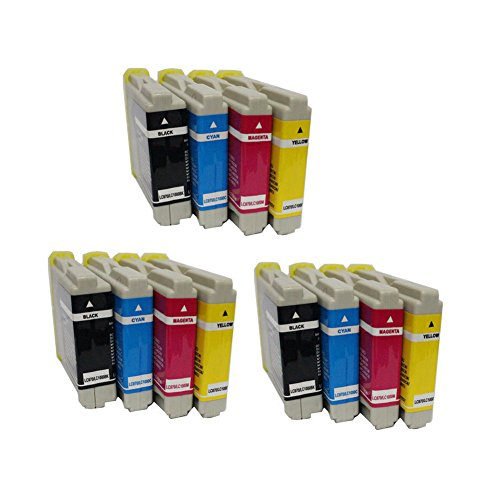 - ESTON Compatible Ink Cartridge Replacement For Brother LC51 LC-51 Series (12) Pack (3 Black, 3 Cyan, 3 Magenta, 3 Yellow) LC51BK LC51C LC51M LC51Y