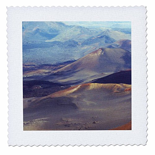 3dRose qs_89495_4 Haleakala Crater Maui Hawaii - US12 BFR0007 - Bernard Friel - Quilt Square, 12 by 12-Inch