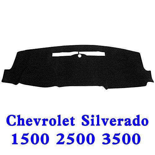 JIAKANUO Auto Car Dashboard Carpet Dash Board Cover Mat Fit for Chevy Chevrolet Silverado 1500 2500 3500 2014-2017(Silverado 14-17, Black) MR032
