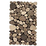 nuLOOM 3' 6 x 5' 6 Hand Tufted Pebbles Rug in Natural