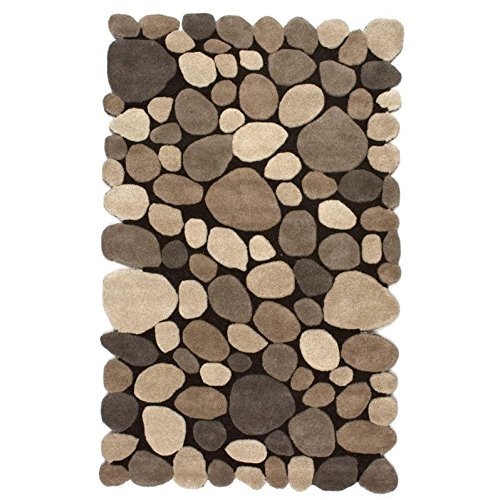 nuLOOM Natural Hand Tufted Pebbles Area Rug, 7' 6