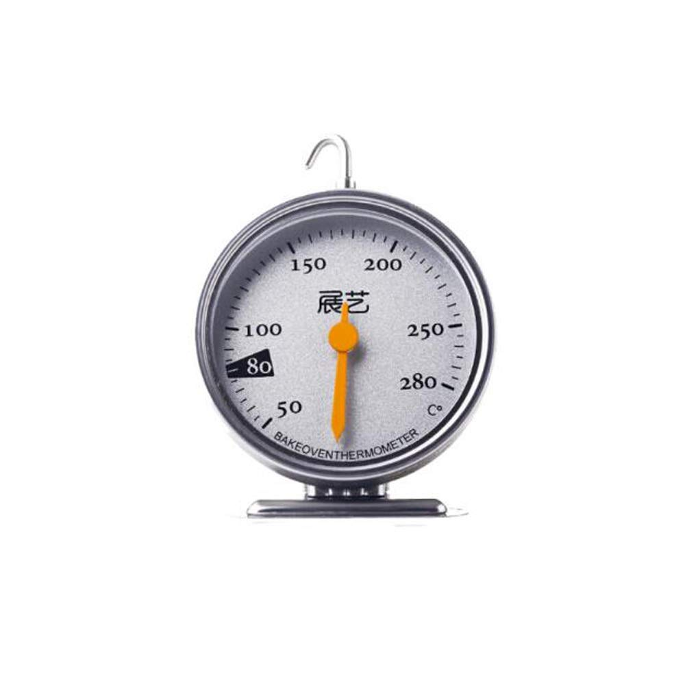 Samuknight Food thermometer, [exhibition oven thermometer], hanging oven microwave oven high precision kitchen thermometer, stainless steel pyrometer, gray Accurately grasp the changes in temperature. by Samuknight