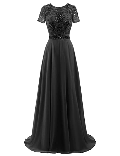 Long Evening Gowns Chiffon Prom Dresses Junior Formal Party ...