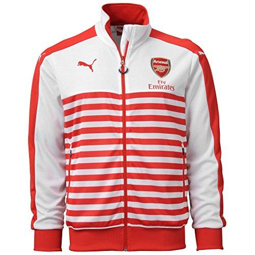 Puma Men's AFC T7 Anthem Jacket with Sponsor, Medium, High Risk Red-White ()