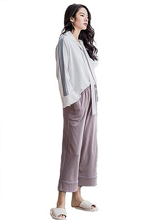 Pijamas De Algodón De Las Mujeres Set Ladies 2 Piezas De Ropa De Dormir Suave Y