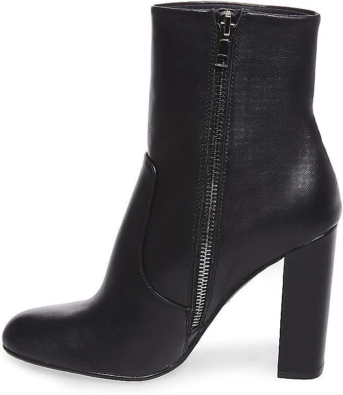 f07c6fac35c Amazon.com   Steve Madden Women's Editor Ankle Boot, Black Leather ...