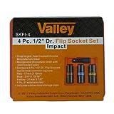 """Cal-Hawk 4 Pc. 1/2"""" Drive Flip Impact Socket Set"""