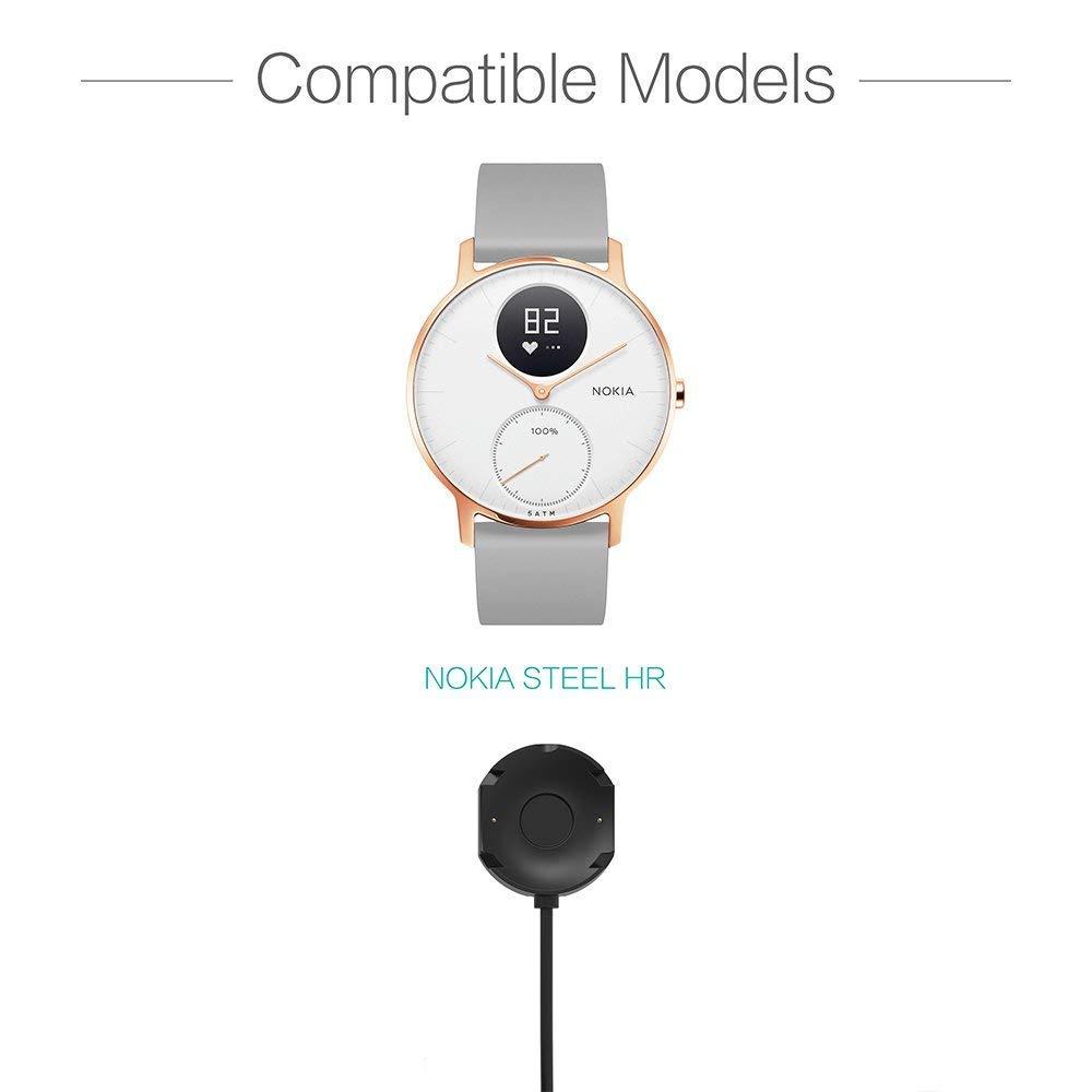 BWORPPY Cargador para Nokia Steel HR Smartwatch, Cable de ...