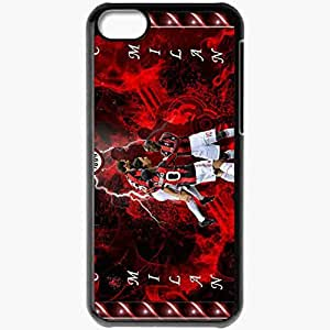 Personalized iPhone 5C Cell phone Case/Cover Skin AC Milan Zlatan Ibrahimovic Robinho Alexandre Pato AC Milan Football Black