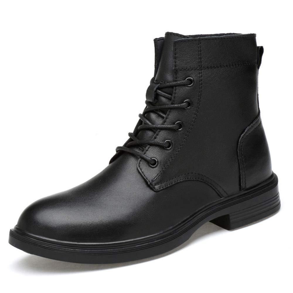 Herren Schwarz Leder High-Top-Schuhe Ankle Stiefel Schnüren Sich Militärische Taktische Wanderschuhe Arbeit Kampf Armee Patrol Sicherheit Polizei Schuhe Stiefel