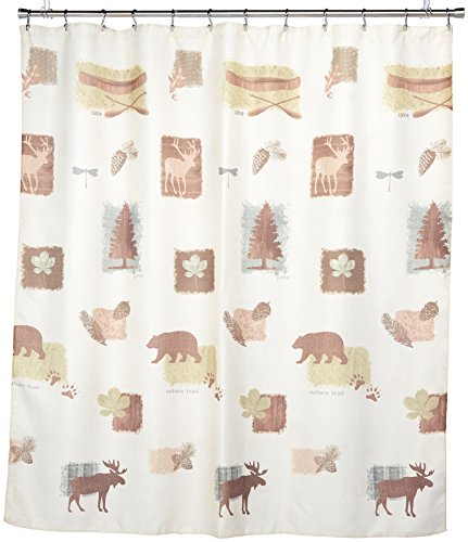 SATURDAY KNIGHT NATURES TRAIL FABRIC SHOWER CURTAIN