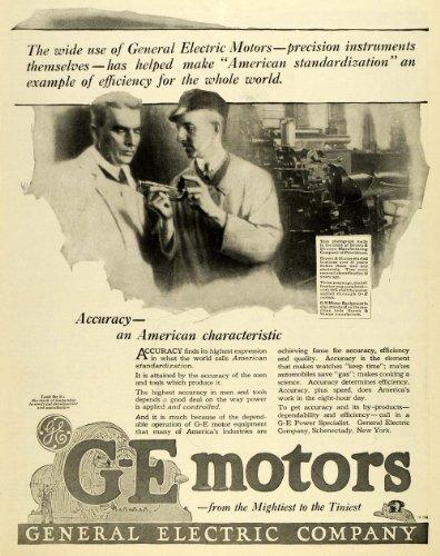 1919 Ad Brown & Sharpe Manufacturing G-E Logo Motor Equipment General Electric - Original Print Ad