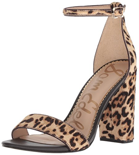 Sam Edelman Women's Yaro Heeled Sandal, Black, US Sand
