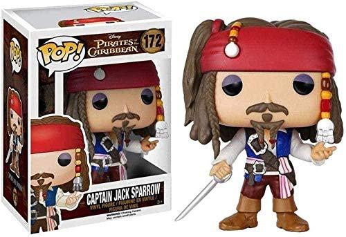 ZGZZ ¡Figura Pop! Figura de Vinilo de Jack Sparrow, Figura Coleccionable de Film Master de la Serie Classice de peliculas Piratas del Caribe, 1