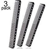 Best Barber Combs - 3 Pieces Fine Cutting Comb Carbon Hairdressing Comb Review