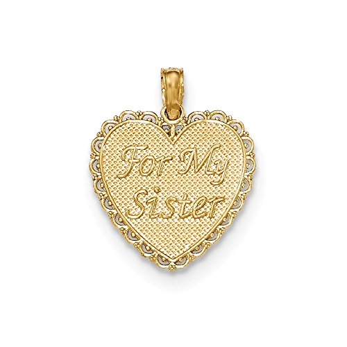 14K Gold Polished For My Sister/We Are Forever Friends Pendant
