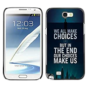 All Phone Most Case / Hard PC Metal piece Shell Slim Cover Protective Case Carcasa Funda Caso de protección para Samsung Note 2 N7100 choices inspiring motivational poster