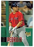 2006 Upper Deck # 1027 Dustin Pedroia (RC) Boston Red Sox Rookie Baseball Card - RARE ROOKIE CARD - Shipped in Protective Display Case !