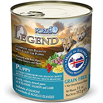 FORZA10 Legend Puppy Salmon and Lamb Recipe Canned Dog Food 12ea/11oz