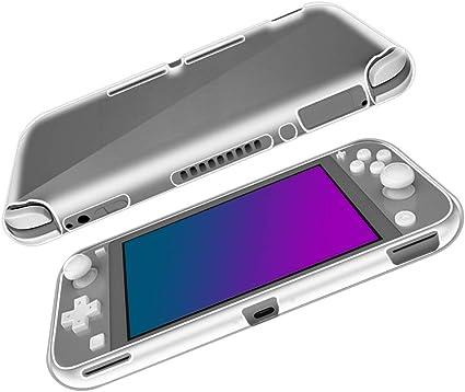 SDTEK Funda para Nintendo Switch Lite [Transparente Carcasa] Case Bumper Cover Suave Crystal Silicona Nintendo ...