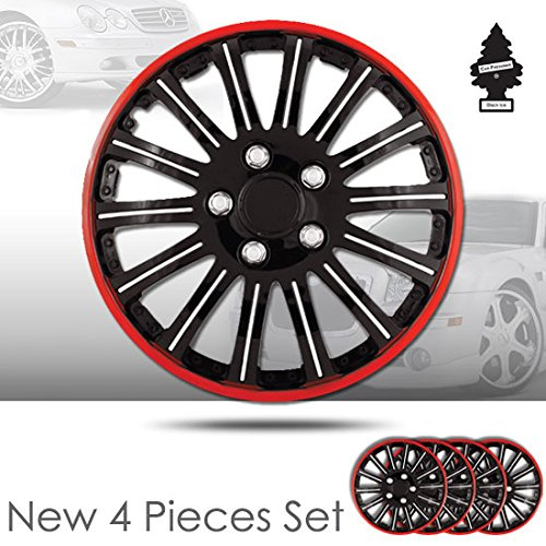 16 inch rims black and red - 3