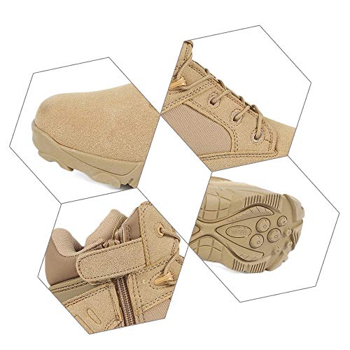 Hiking YING Outdoor High Ankle Army Top Zipper Khaki LAN Shoes Military Boots Combat Men's Side Tactical vvTSFqUR