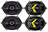 "Best Kicker Sound Quality Speakers - 4) Kicker 43DSC6804 D-Series 6x8"" 200 Watt 2-Way Review"