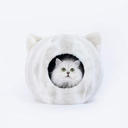 LLUVIAXHAN Gato Cama de la casa con el Gato en Forma, Suave ...