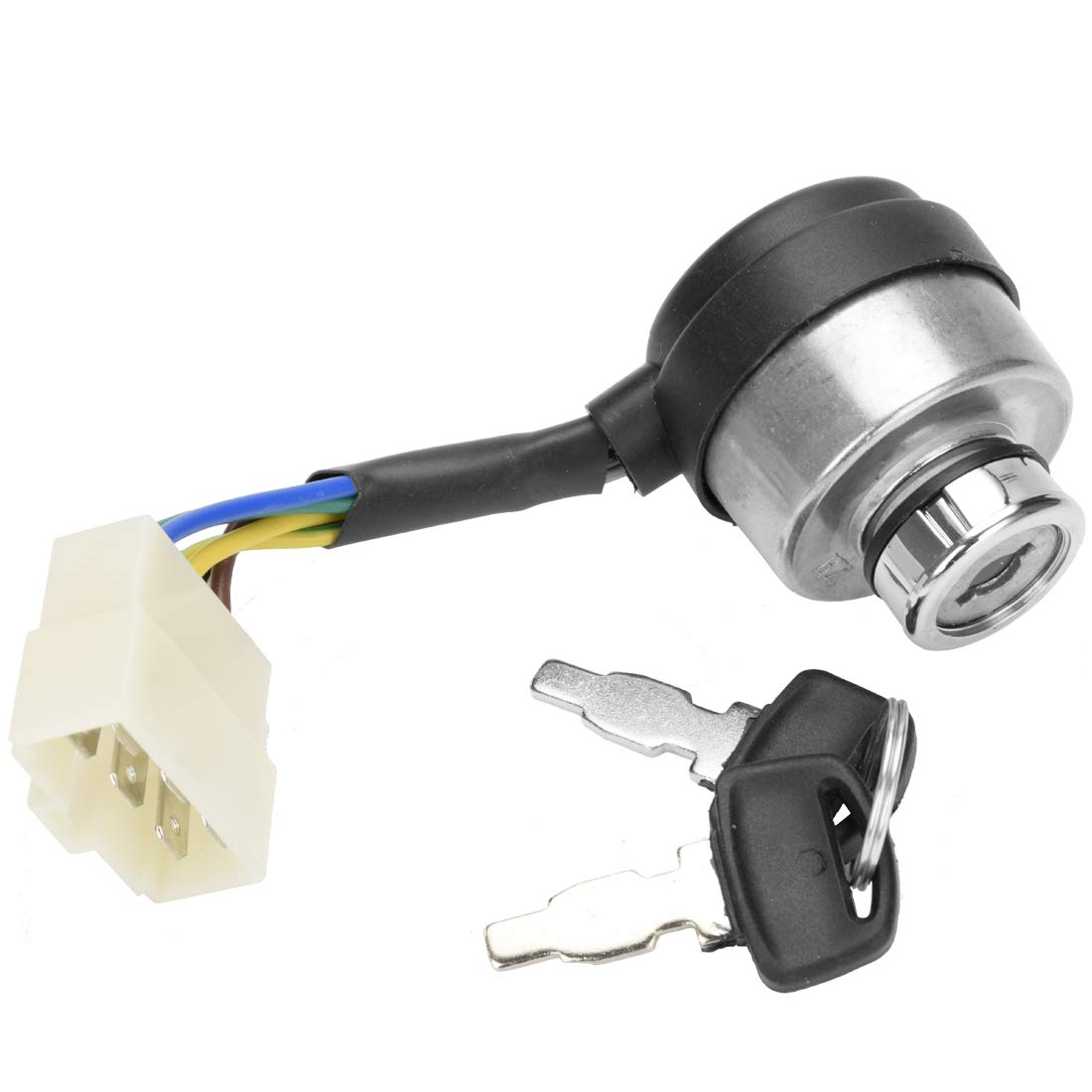 FVRITO Start Ignition Key On Off Switch 6 Wires Compatible with DuroMax XP4400E XP4400EH XP8500E XP10000E MX4500E XP6500E XP8500E 5KW 6KW 7KW 188F 190F 5KW 6KW 7KW 188F 190F Chinese Generator