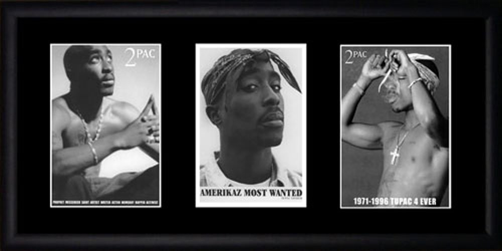 Tupac Shakur Framed Photographs