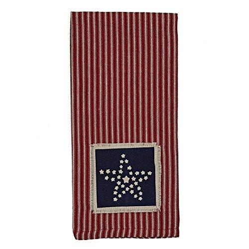 Park Designs Americana Star Patch Dishtowel (Americana Gift)