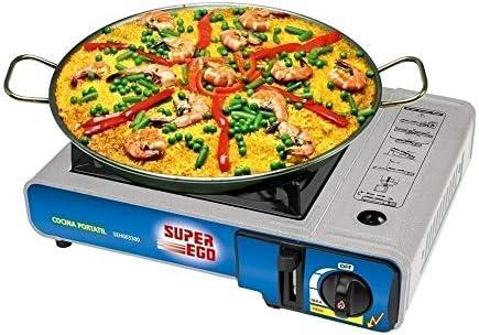 SUPER EGO SEH003300 Cocina cartucho gas portátil, Gris, 34x9x26 cm: Amazon.es: Coche y moto