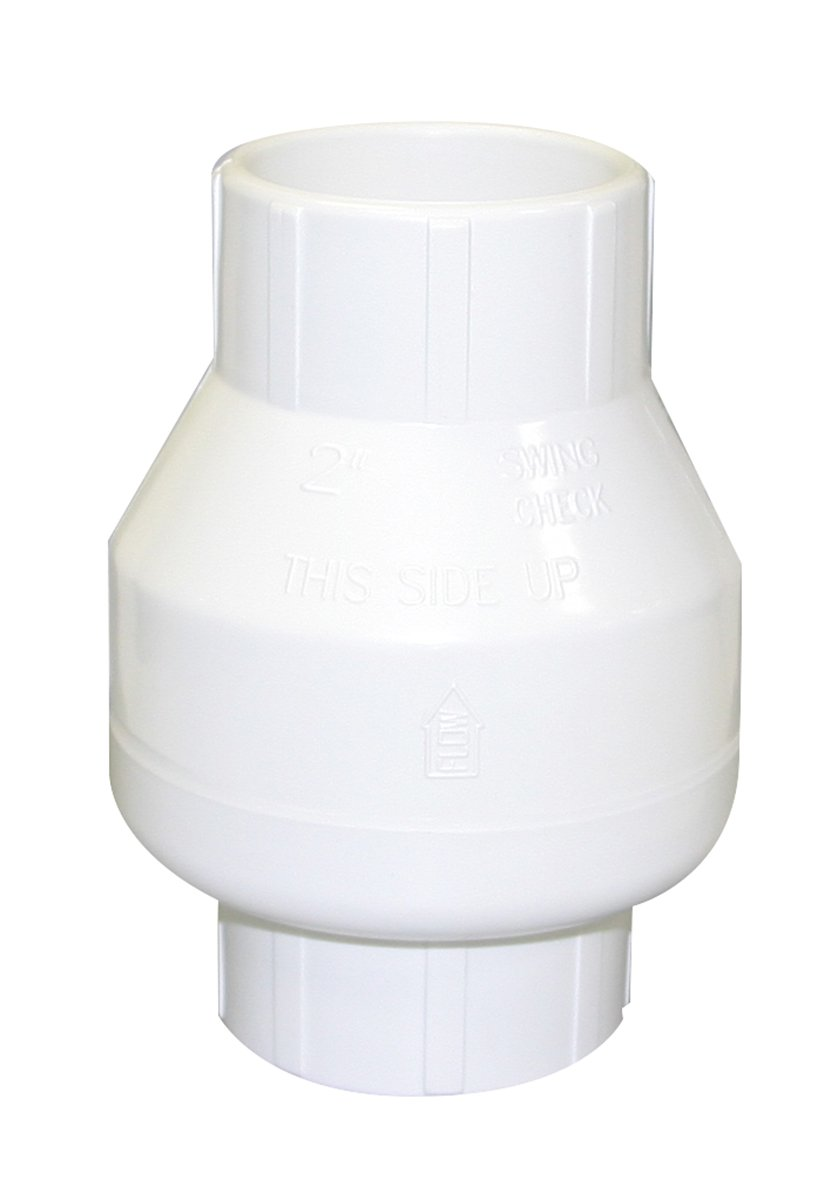 "Valterra 200-20W PVC Swing (No Spring) Check Valve, White, 2"" Slip"