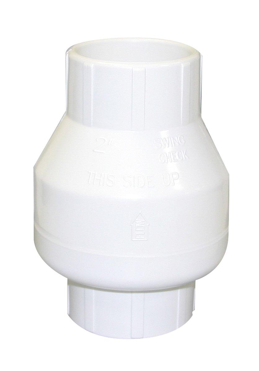 Valterra 200-20W PVC Swing (No Spring) Check Valve, White, 2'' Slip