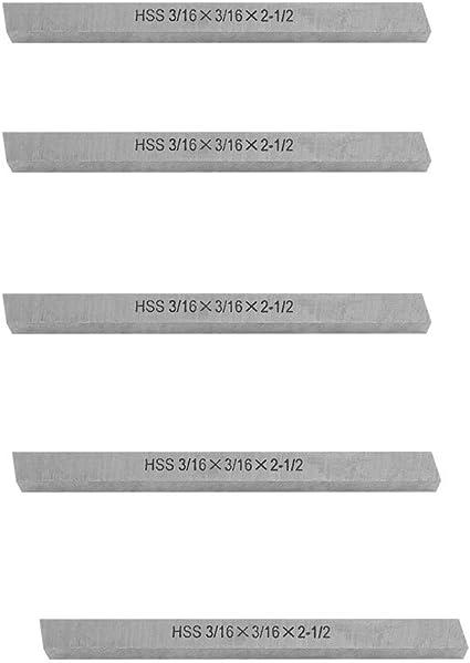 "5//16/"" Square x 2-1//2/"" High Speed Steel Tool Bits Tool Bit Lathe Bits 5 pieces"