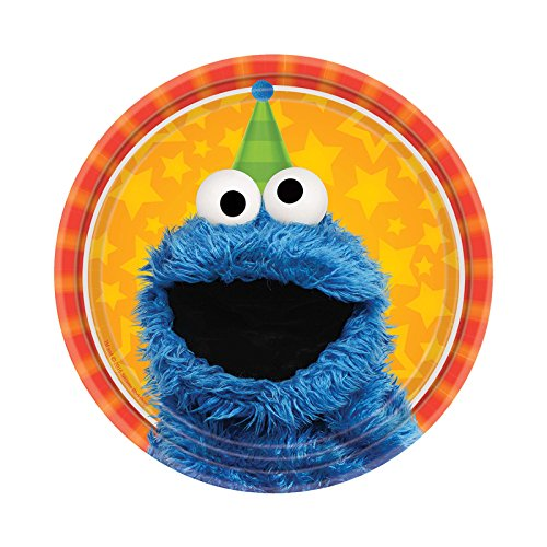 Sesame Street Party Plates (BirthdayExpress Sesame Street Party Supplies 48 Pack Dessert)