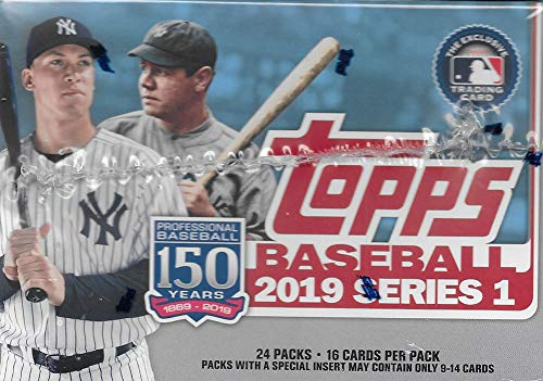 e2df6cc1 Topps 2019 Baseball Series 1 Trading Cards Display Box (Retail Edition 24  Packs)