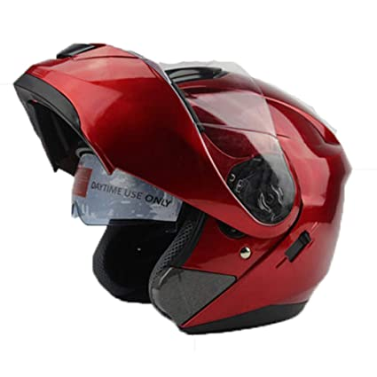 Amazon.es: Hombres Mujeres Seguridad Flip Up Casco De Moto con ...