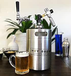 Hey Brew 5l Mini Craft Beer Keg For Home Brew With Beer