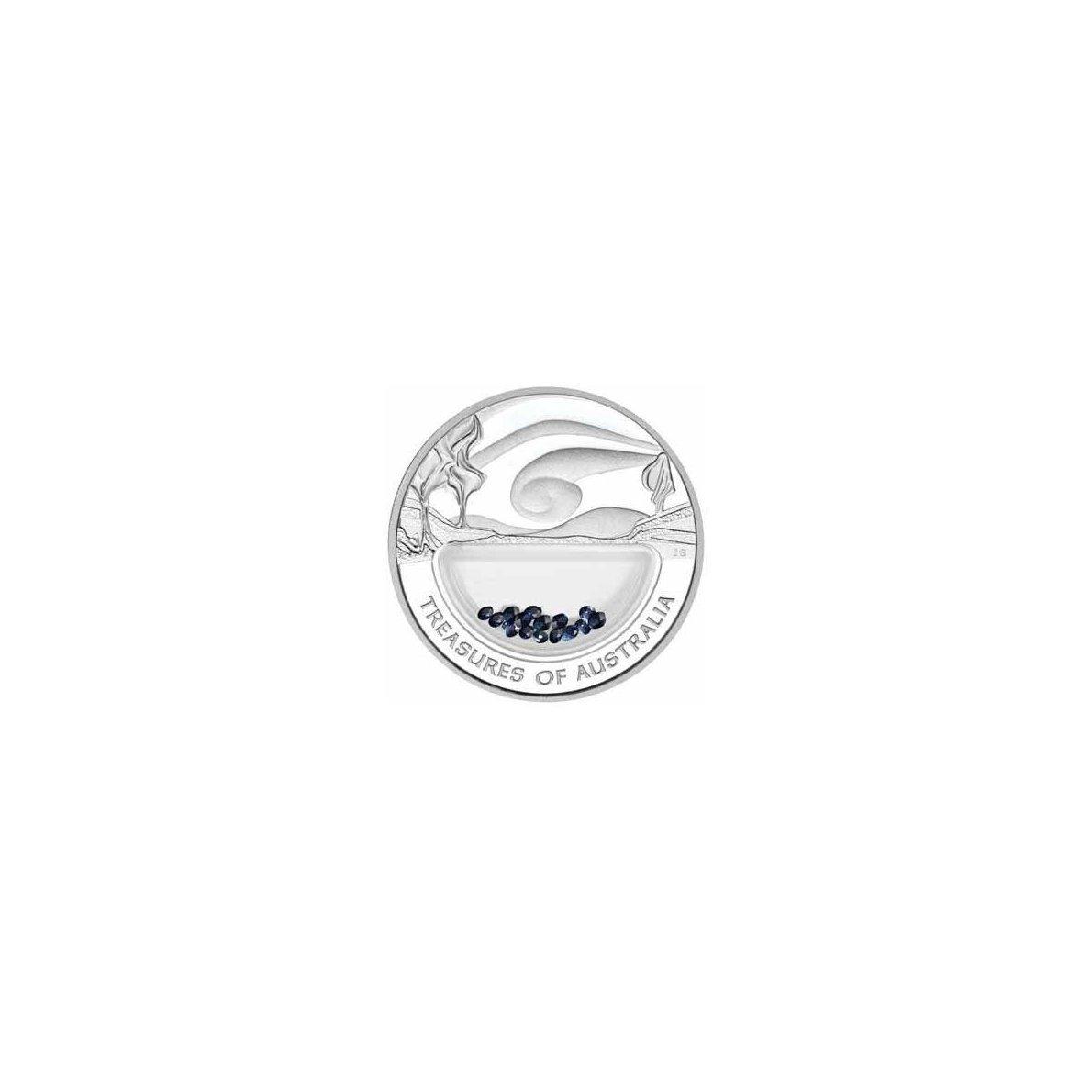 Schätze von Australien - Sapphires  1 1 Unze Silbermünze - Australien 2007