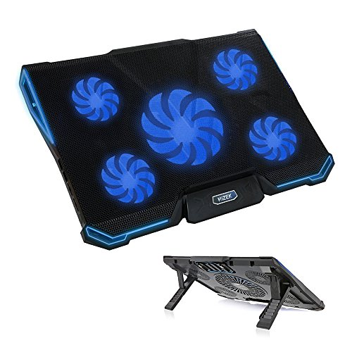Big Save! Laptop Cooling Pad,Hizek 14-17 Inch Laptop Cooler with LED Lights Ultra-Slim Laptop Coolin...