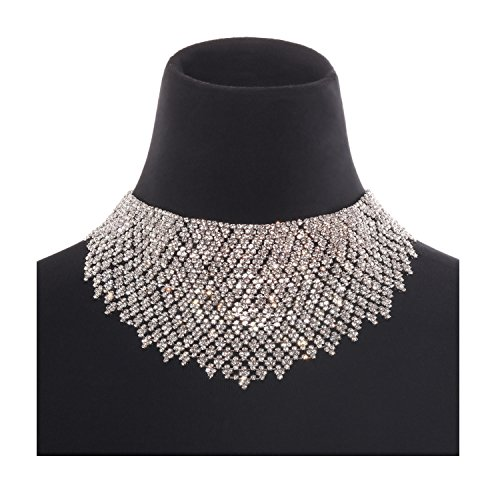 Holylove Statement Necklaces Women Jewelry Necklaces Chains Fashion Silver Choker 1 PC Gift Box-HLN39 Silver by Holylove